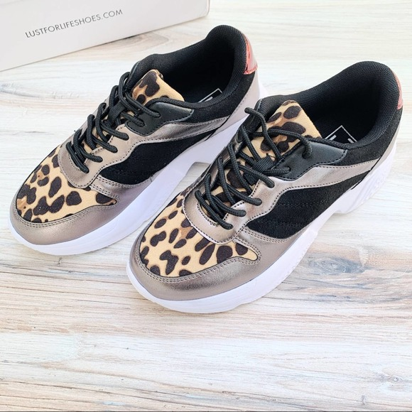 LUST FOR LIFE Leopard Dad Sneakers Size 7M NIB